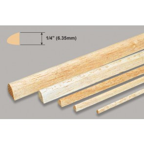 Balsa Wood Leading Edge - 1/4 x 1/4 x 36""
