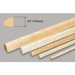 Balsa Wood Leading Edge - 3/4 x 3/4 x 36""