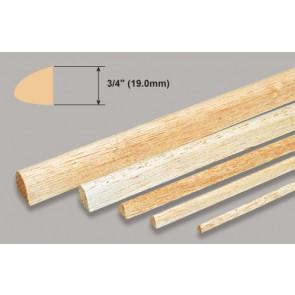 "Balsa Wood Leading Edge - 3/4 x 3/4 x 36"""