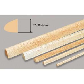 "Balsa Wood Leading Edge - 1 x 1 x 36"""