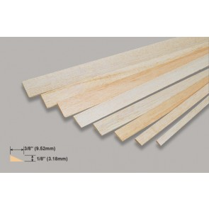 Balsa Wood Trailing Edge - 1/8 x 3/8 x 36""