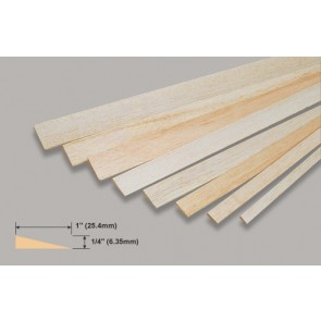 Balsa Wood Trailing Edge - 1/4 x 1 x 36""
