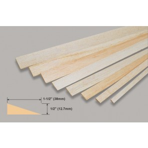 Balsa Wood Trailing Edge - 1/2 x 1-1/2 x 36""