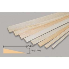 "Balsa Wood Trailing Edge - 1/2 x 2 x 36"""