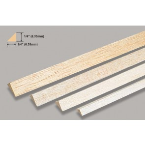 "Balsa Wood Triangle - 1/4 x 36"""