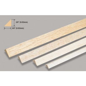 Balsa Wood Triangle - 3/8 x 36""