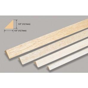 "Balsa Wood Triangle - 1/2 x 36"""