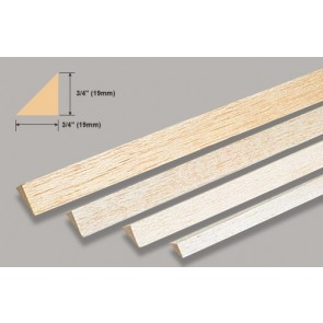Balsa Wood Triangle - 3/4 x 36""