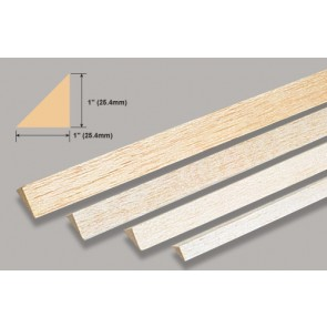 Balsa Wood Triangle - 1 x 36""