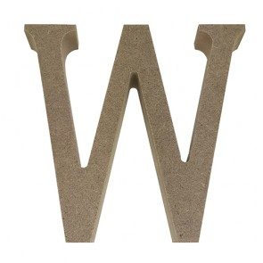 Wood Letter 11cm Natural W