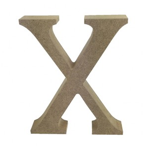 Wood Letter 11cm Natural X