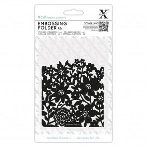 A6 Embossing Folder - Flower Curtain