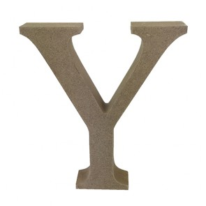Wood Letter 11cm Natural Y