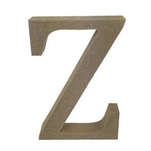 Wood Letter 11cm Natural Z