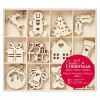 Large Mixed Wooden Shapes (48pcs) -  Christmas Icons