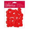 Thread Your Own Pom Poms  (30pcs) - Red