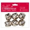 Extra Large Jingle Bells  (6pcs)- Silver