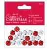 Jingle Bells Matt Finish (20pcs) - Red & White
