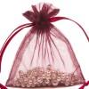 Organza Bag 9X12cm (10 Pack) Burgund