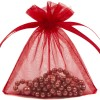 Organza Bag 7X9cm (10 Pack) Red