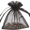 Organza Bag 9X12cm (10 Pack) Black